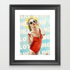 Oiling and Lotioning Framed Art Print