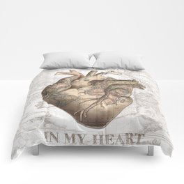 adventure heart-world map 1 Comforters