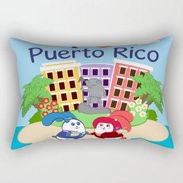 Ernest & Coraline | I love Puerto Rico Rectangular Pillow