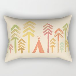 Tepee in the forest Rectangular Pillow