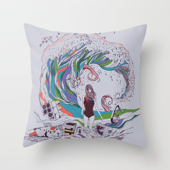 Ocean Myths Throw Pillow
