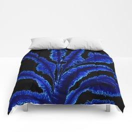 Dark leaves Comforters