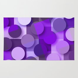 squares & dots violet Rug