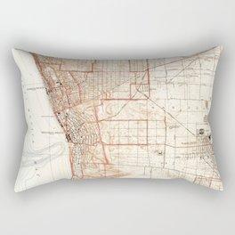 Vintage Map of Redondo Beach & Torrance CA (1934) Rectangular Pillow