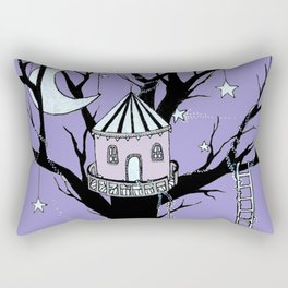 Treehouse at Midnight Rectangular Pillow