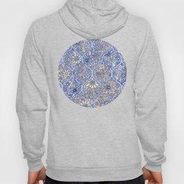 Moroccan Floral Lattice Arrangement - Purple Hoody