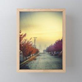 Land of fogs. Spokane morning. Framed Mini Art Print