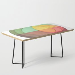 Concentric Circles Forming Equal Areas Coffee Table