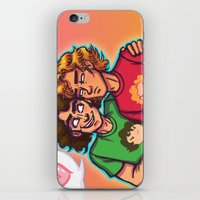grantaire iPhone & iPod Skins featuring Cheer Up, Grump by juanjoltaire