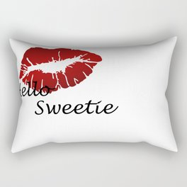 River song mono from Dr who Rectangular Pillow