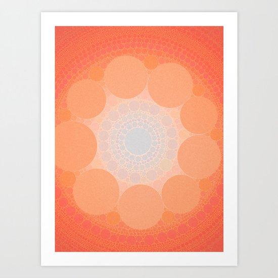 Split In Teal Art Print