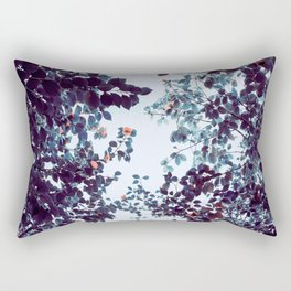 Magical Colorful Pastel Plant Leaves Pink Turquoise Rectangular Pillow