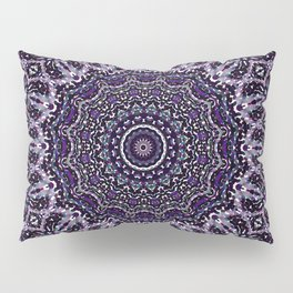 Purple, Gray, and Black Kaleidoscope 2 Pillow Sham