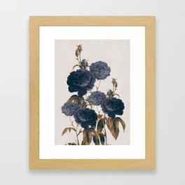 blue flowers Framed Art Print