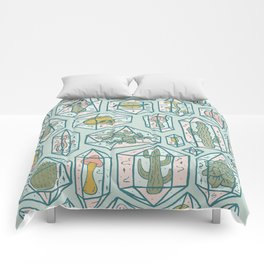 Crystals and Plants Comforters