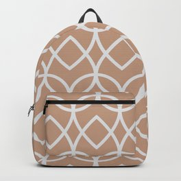 Sand Storm Beige Pale Gray Teardrop Pattern 2021 Color of The Year Canyon Dusk Dutch White Backpack