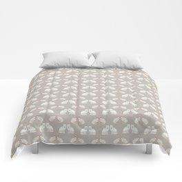 Arctic animals on pale grey Comforters