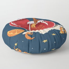 Christmas mulled wine Floor Pillow