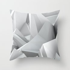 White Noiz Throw Pillow