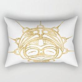 Gold Frog Spirit Rectangular Pillow