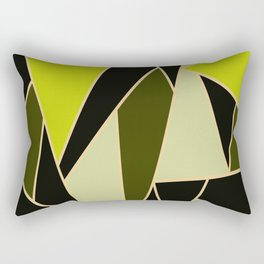 Triangles of oil colors  Green oily  Oil colors  Green color derivatives Yellow to green Rectangular Pillow