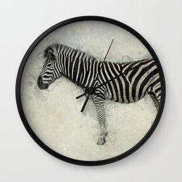 Zebra Art Wall Clock