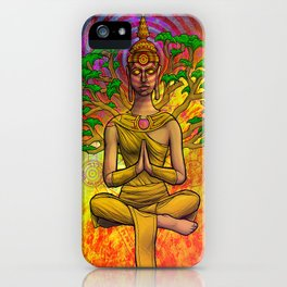 Psychedelic Buddha iPhone Case