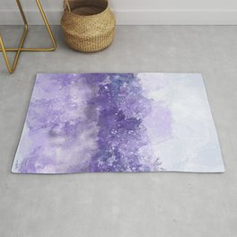 Choppy Purple Ocean Water Rug