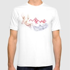 Mermaid White Mens Fitted Tee MEDIUM