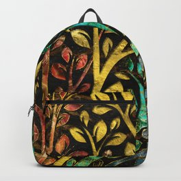 Gemstone Tree with golden decor Backpack