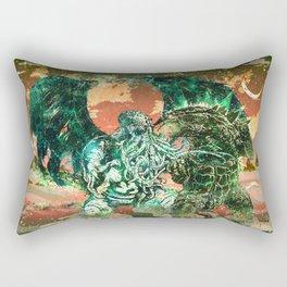 Cthulhu vs Godzilla Rectangular Pillow