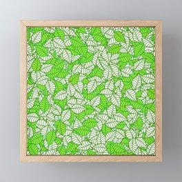 A New Leaf GREEN Framed Mini Art Print