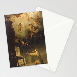 Bartolome Esteban Murillo - The vision of Saint Anthony of Padua Stationery Cards
