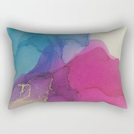 Colour puddle gold Rectangular Pillow