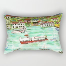 Day at the Harbor Rectangular Pillow