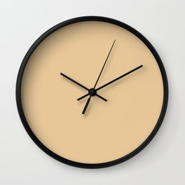 From The Crayon Box – Gold Brown Solid Color Wall Clock
