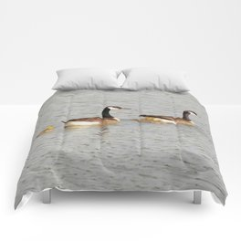 Canadian Geese Family Comforters
