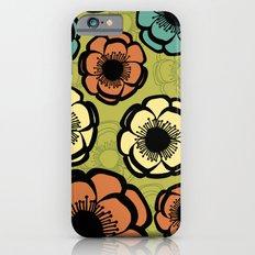 Bold Retro Flower iPhone 6s Slim Case