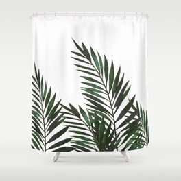 Palm Leaves Green Shower Curtain