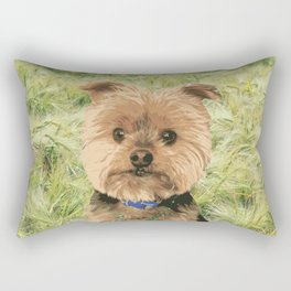 Kiss me I'm Irish | Yorkie Giraffe | Yorkies | Dogs | nbKiss Rectangular Pillow