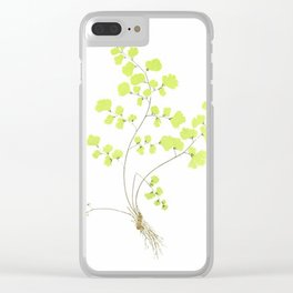 Maidenhair Fern Clear iPhone Case