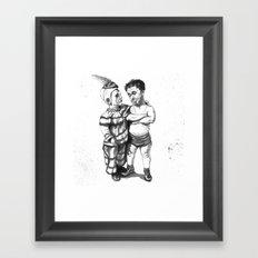 Clown Buddies Framed Art Print