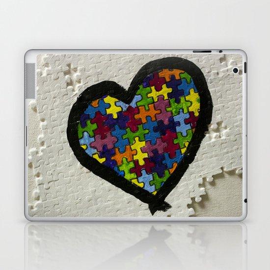 Autism Awareness Heart Laptop & iPad Skin
