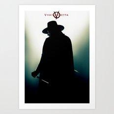V for Vendetta (e4) Art Print