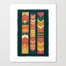 Navii Geometirc Tapestry Chevron  Canvas Print