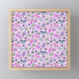 Spring Butterflies Framed Mini Art Print