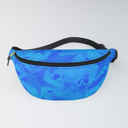 Calm intersecting heavenly stars on a blue background. Fanny Pack