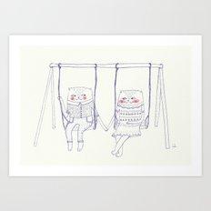 best friend cat  Art Print