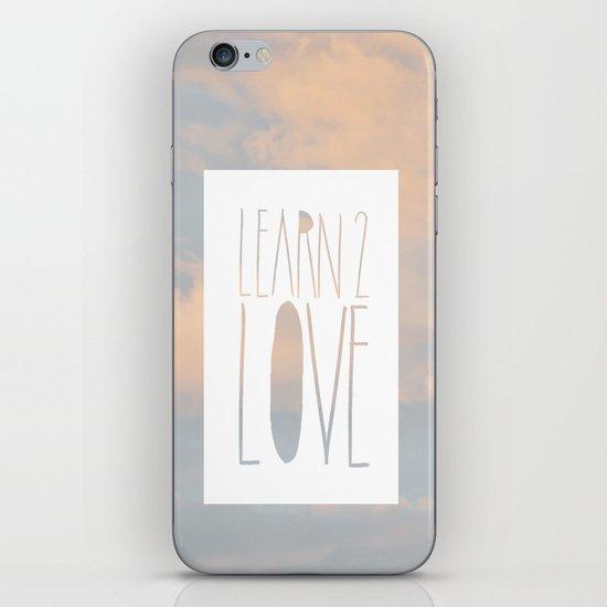 LEARN 2 LOVE iPhone & iPod Skin