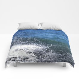 Seafoam and splashes Comforters